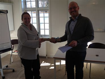 Thomas fra Tetra Pak Hoyer A/S Green Belt certificeret