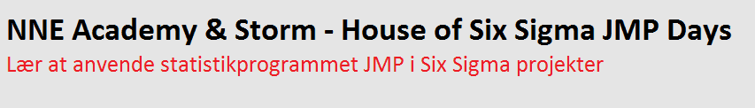 JMP seminar - Storm - House of Six Sigma & NNE