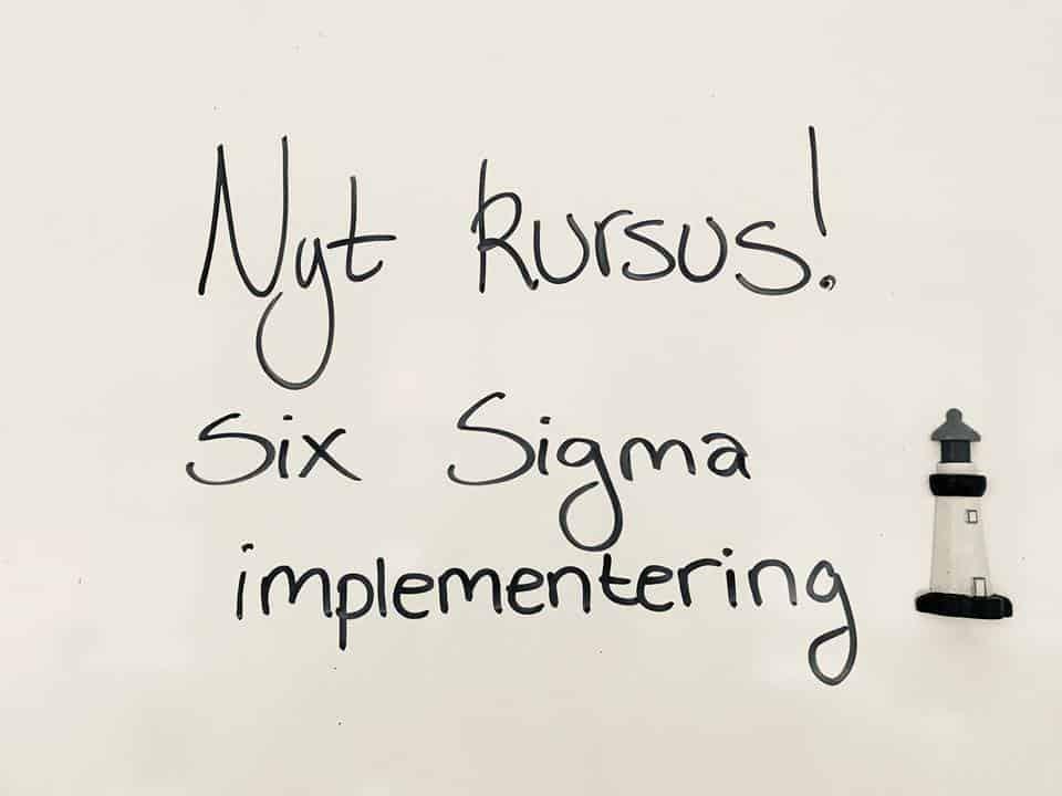 Kursus om Six Sigma implementering