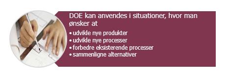 Design of Experiment DOE i Danmark. Få den udført i dag.